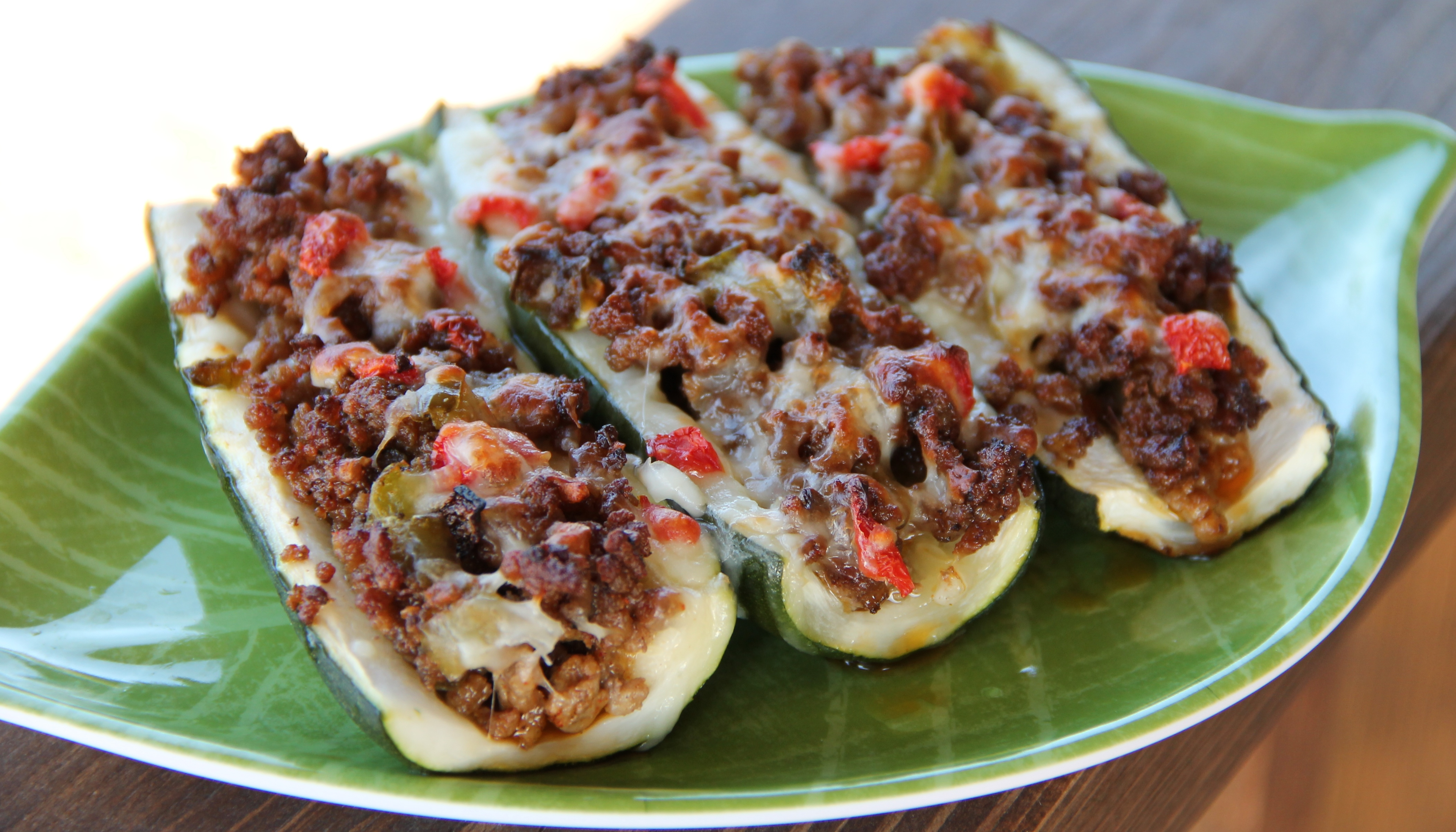 Recipe of zucchini with minced meat in the oven, in batter, in a pan. A photo 33